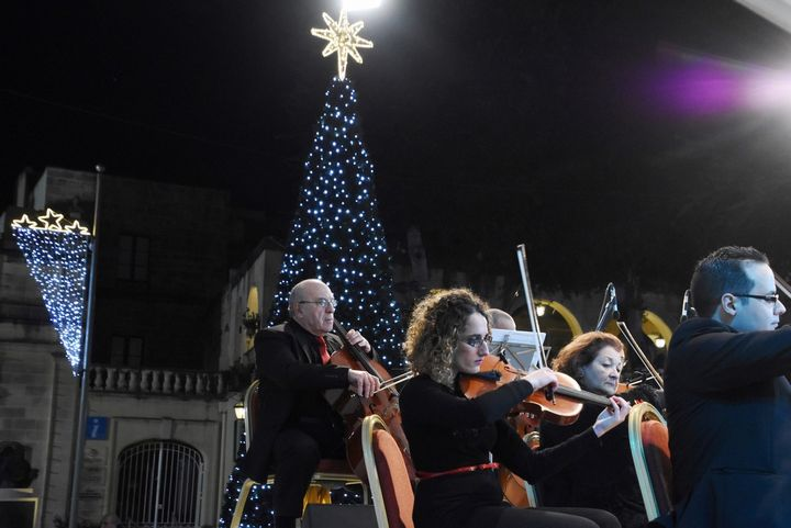 Christmas Tree and lights switched on as Gozo festivities get underway