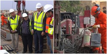 Investigative Coring works in Ghajnsielem for Malta-Gozo tunnel