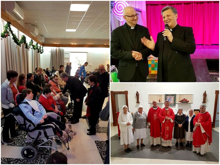 Gozo Bishop visits residents at Dar il-Providenza in Malta