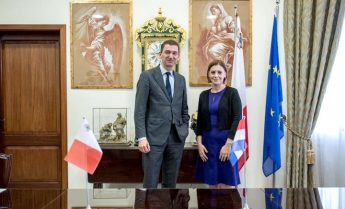 Dutch ambassador to Malta pays courtesy visit to Gozo Minister