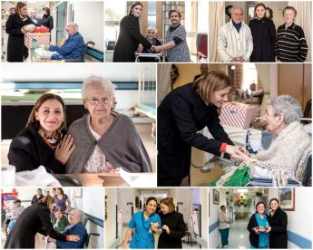 Gozo Minister pays Christmas visit to the elderly at Gozo Hospital