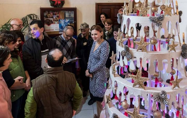 Gozo Ministry Christmas tree made by clients of Santa Marta Day Centre