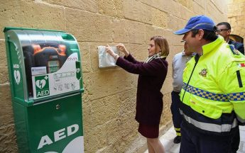 Gozo's first public access defibrillator inaugurated at the Citadel