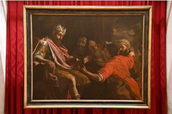 Mattia Preti painting currently on display at the Ministry for Gozo
