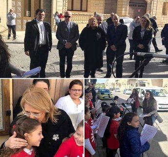 President Marie-Louise Coleiro Preca in Gozo for Istrina