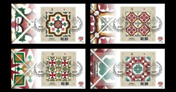 Traditional Floor Tile Patterns - MaltaPost latest stamp issue