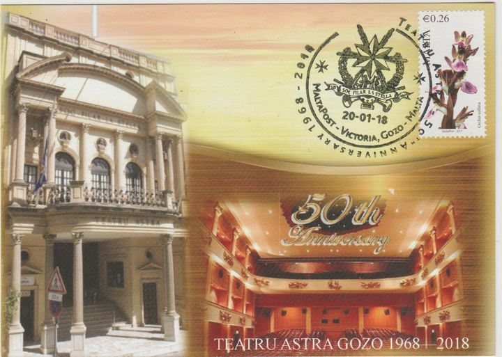 Astra Theatre 50th anniversary commemorative post card