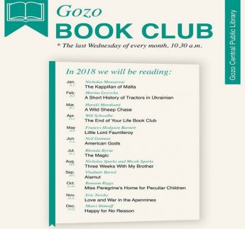 New book club starting in Gozo at the Central Public Library