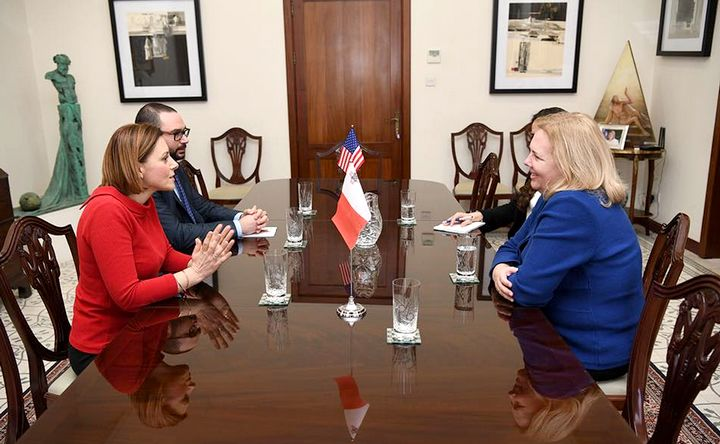 U.S.Ambassador pays courtesy visit to the Minister for Gozo