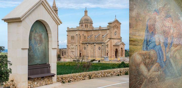 Gozo Ministry deplores vandalism on Pilgrims'Way fresco at Ta' Pinu