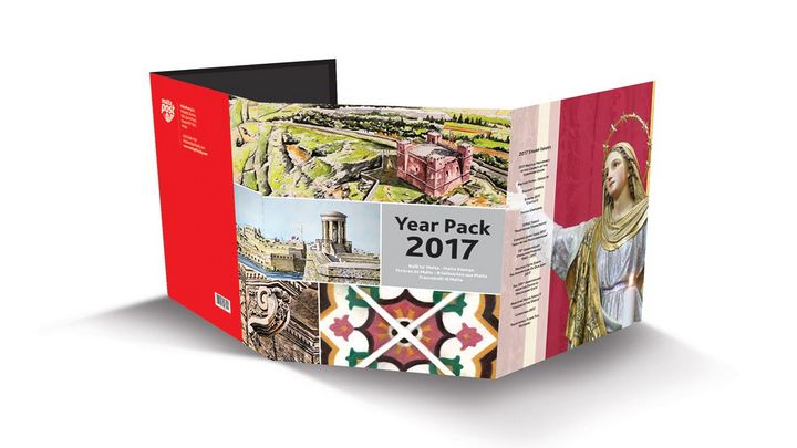2017 Year Pack launched by MaltaPost and includes all stamp sets