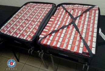 Customs seize 32,000 cigarettes from luggage off Moscow flight