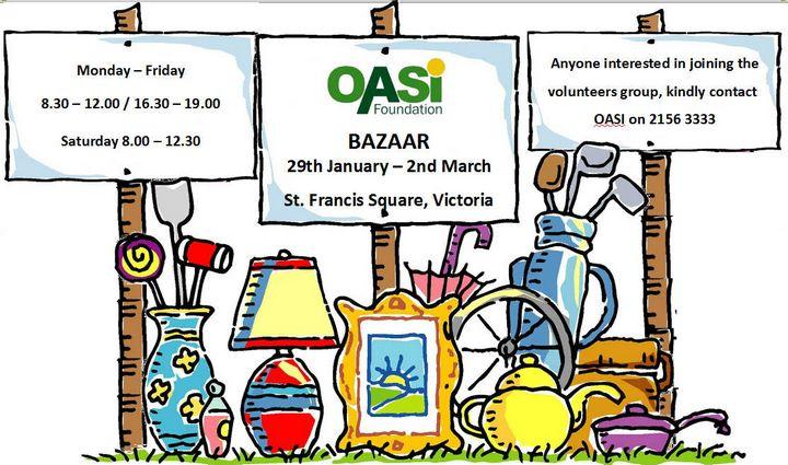 OASI Bazaar opens in Victoria this month, volunteers needed