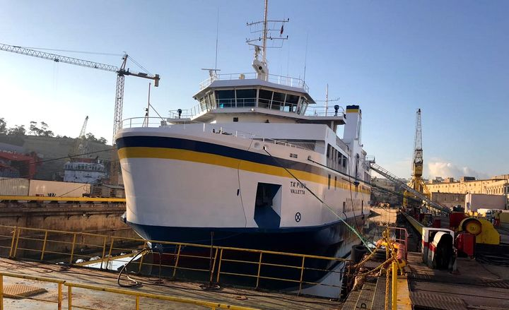 a' Pinu ferry back in service tomorrow in time for carnival