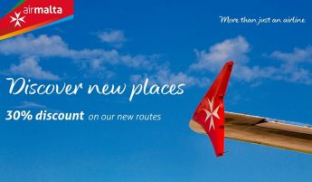 Air Malta launches 30% special offer on Go Smart fares