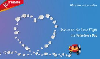 Valentine's Day Air Malta Love Flight including dinner in Comiso