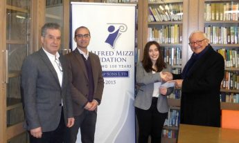 Gozitan Vanessa Buhagiar receives Alfred Mizzi Foundation bursary