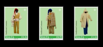 MaltaPost stamps issue depicting Traditional Costumes Stamp