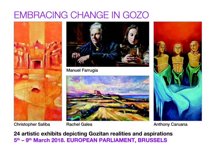 Local contemporary artists in Brussels and Gozo Exhibition
