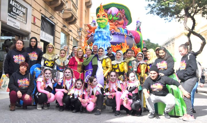 Valletta Children's Carnival with participants from Gozo