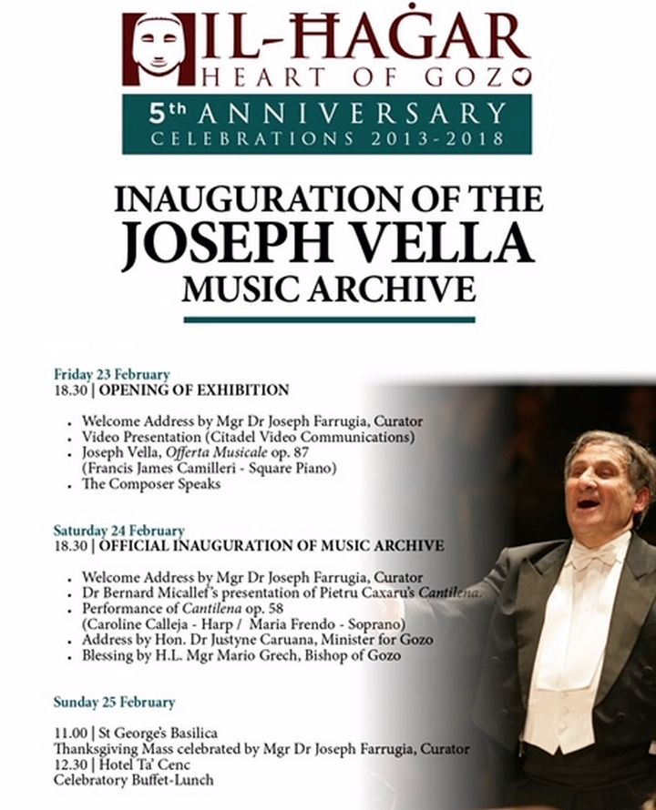 Special events to celebrate Il-Hagar Museum's 5th anniversary