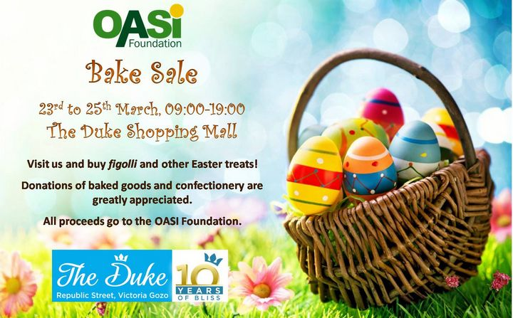 Please help with donations of Easter goodies for OASI Bake Sale