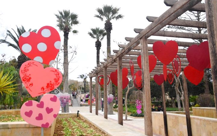 Love is in the air at the Villa Rundle Gardens for Valentine's in Gozo