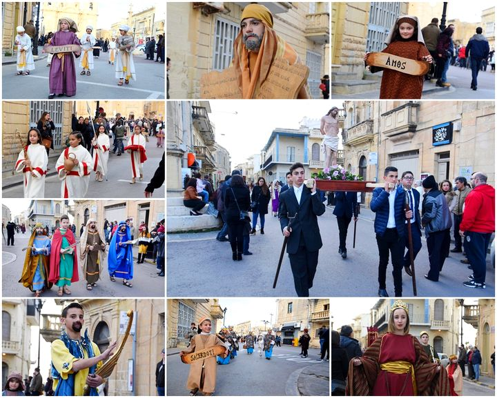 Large crowds welcome the Xaghra Children's Passion Pageant