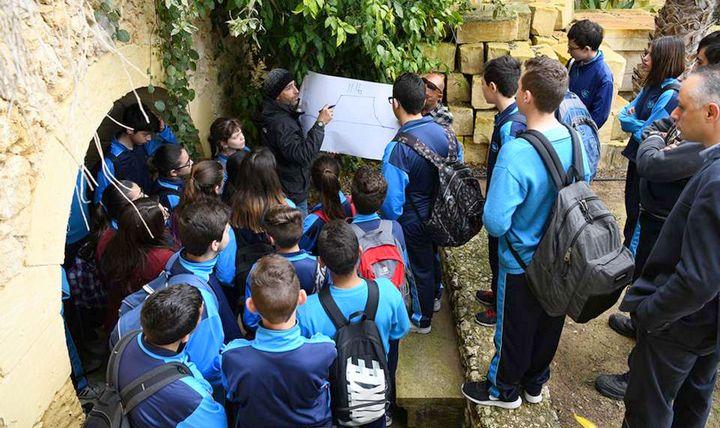 School children visit Ghar Ilma in celebration of World Water Day