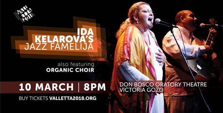Ida Kelarova's Jazz Famelija in Gozo as part of Valletta 2018