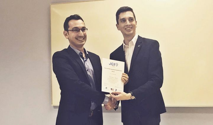 Gozitan Dr Anthony Galea wins National Public Speaking Competition