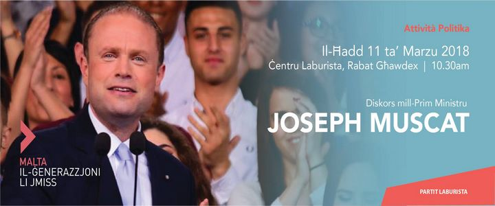 Prime Minister to address political activity in Gozo this Sunday