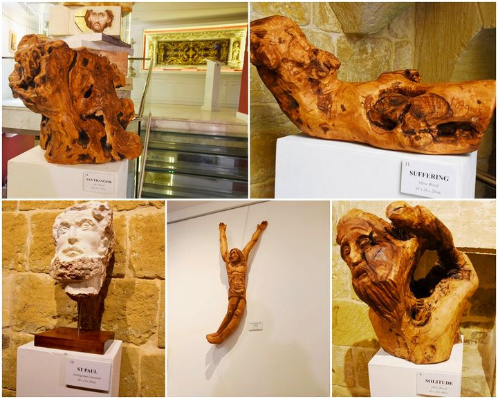 Sculptures by Gozitan artist Mario Agius on display at Il-Hagar