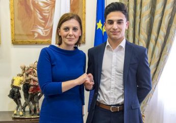 Gozo Minister meets Commonwealth Games competitor Marlon Attard