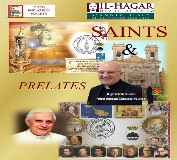 Gozo exhibition of Philatelic Saints & Prelates at Il-Hagar museum