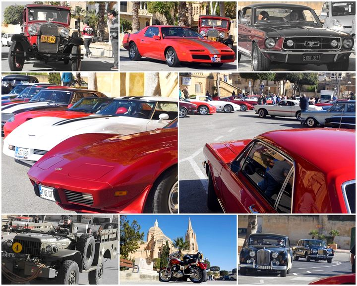 Classic and vintage cars in Gozo for the annual Vintage Motors Festival