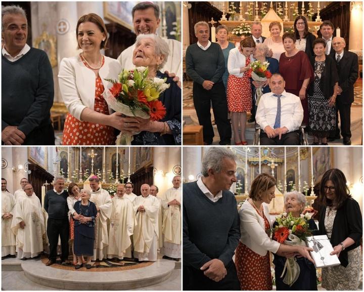 Thanksgiving Mass in celebration of Carmen Vella's 102nd birthday