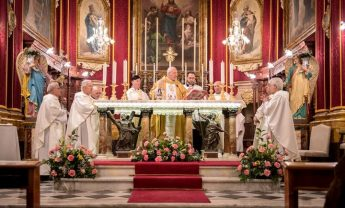 Archbishop Mons Alfred Xuereb celebrates Mass in Fontana