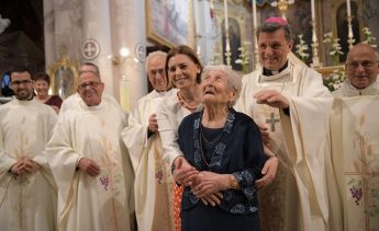 Thanksgiving Mass in celebration of Carmen Vella's 102nd birthday