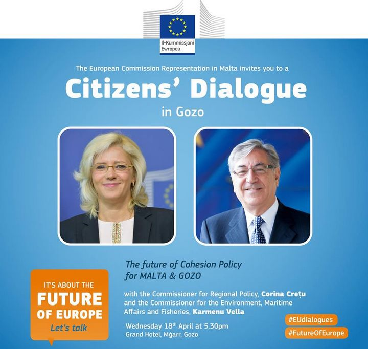 "Citizens' Dialogue in Gozo about the ""future of Europe"""