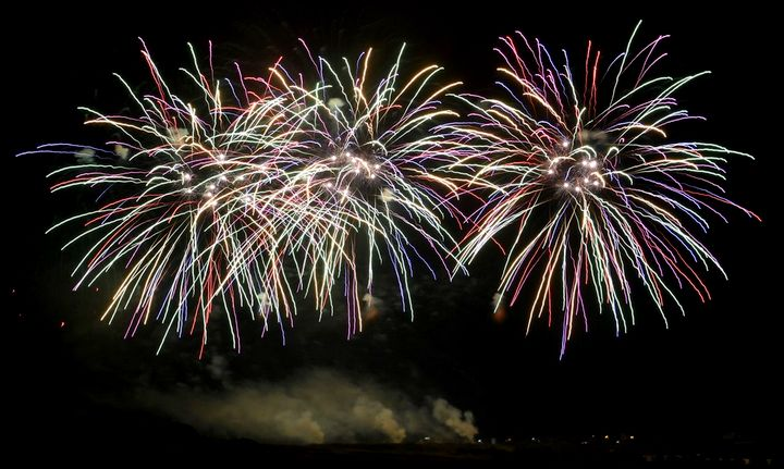 Spectacular fireworks displays light up the skies over Gozo
