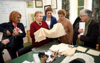 Minister for Gozo visits activities at the Gozo Lace Day