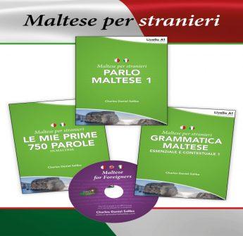 Maltese-Italian language books by Gozitan Charles Daniel Saliba