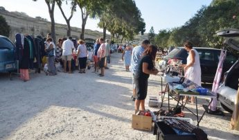 Marsalforn charity car boot sale in aid of the Arka Foundation Gozo