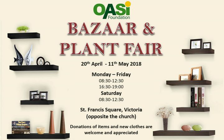 Annual OASI Bazaar and Plant Fair opens tomorrow in Victoria