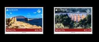 MaltaPost Europa stamp set issue - Bridges
