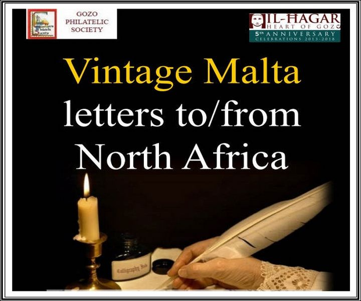 Vintage Malta letters on display to and from Africa at Il-Hagar Museum