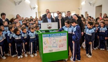 WEEE trolleys now also located in Gozo Church Schools