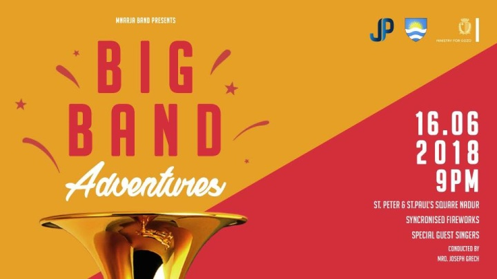 Big Band Adventures annual concert in June with Nadur's Mnarja Band