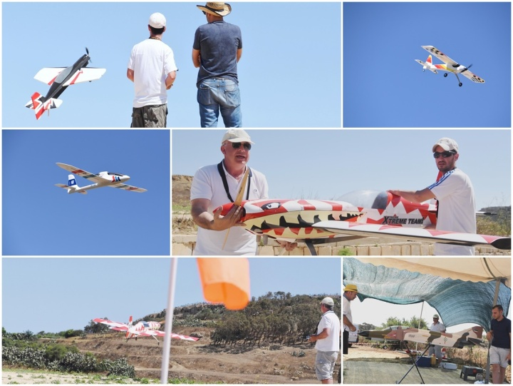 Air model flying display at Tax-Xhajma for Gozo Sports Festival